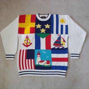 Charter Club Nautical Sweater size M